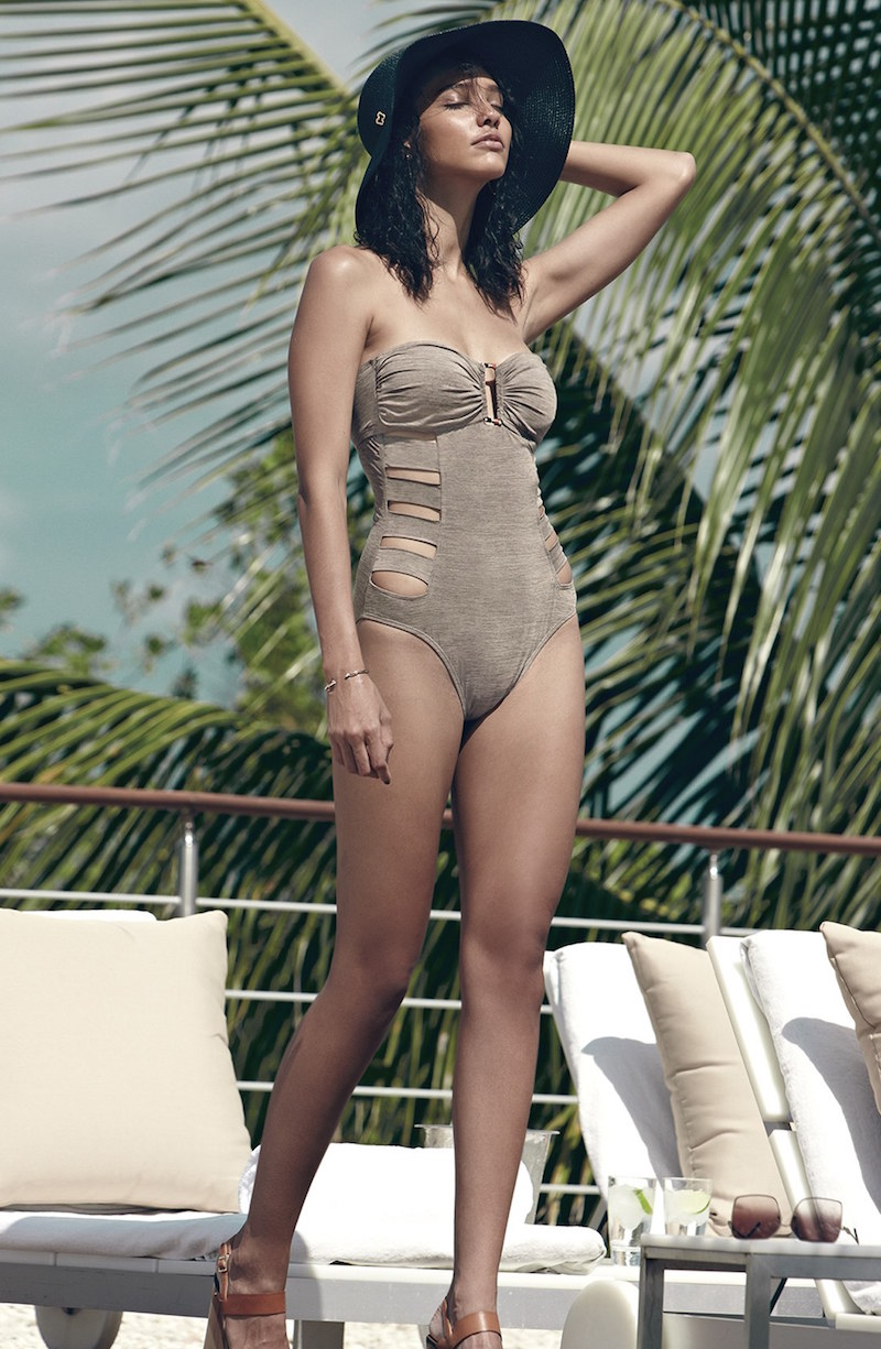 La Blanca Sand Dunes Bandeau One-Piece Swimsuit