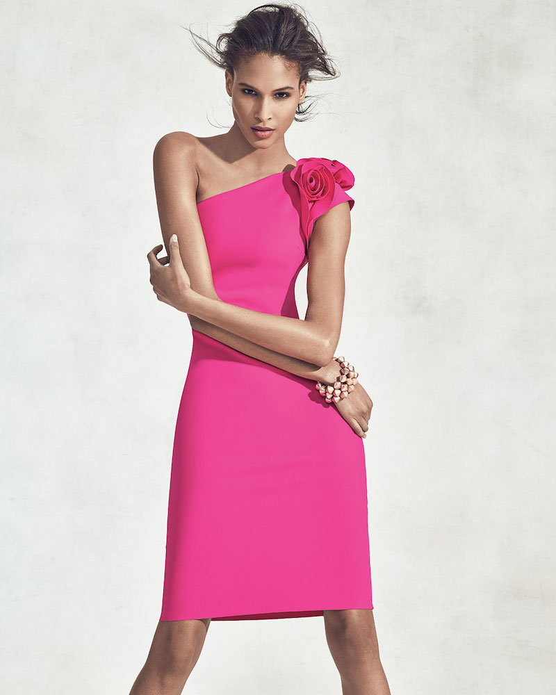 La Petite Robe di Chiara Boni Cenrica One-Shoulder Rosette Sheath Dress