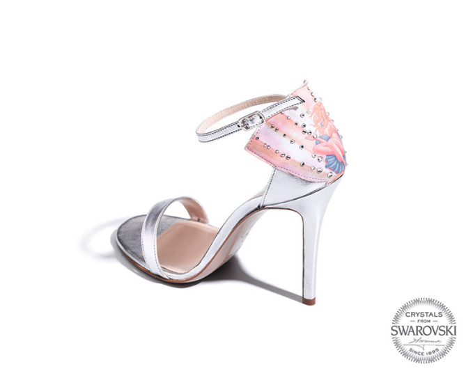 Luisa Via Roma Limit.ED Collection Shoes Featuring Crystals by Swarovski