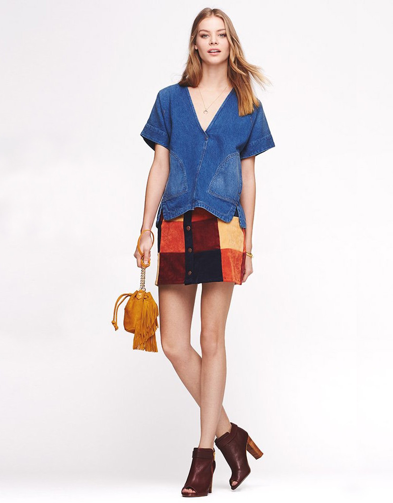 MINKPINK Mix It Up Patchwork Miniskirt