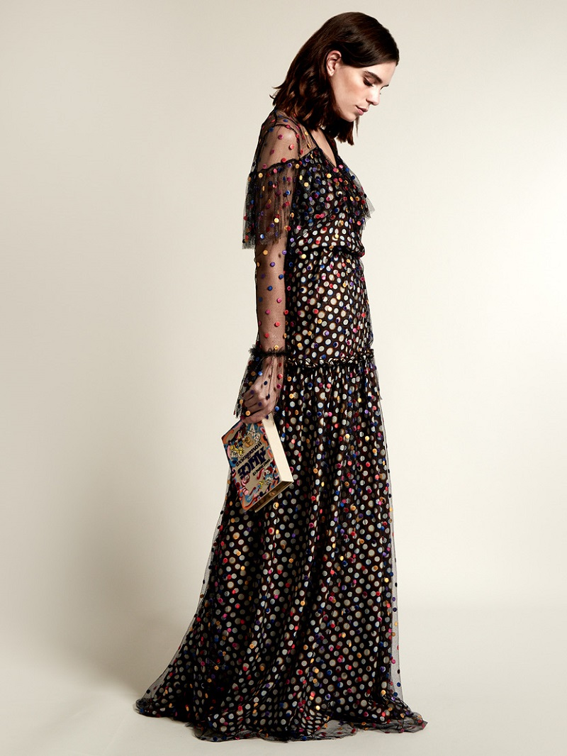 Marco de Vincenzo Polka-dot embroidered tulle gown