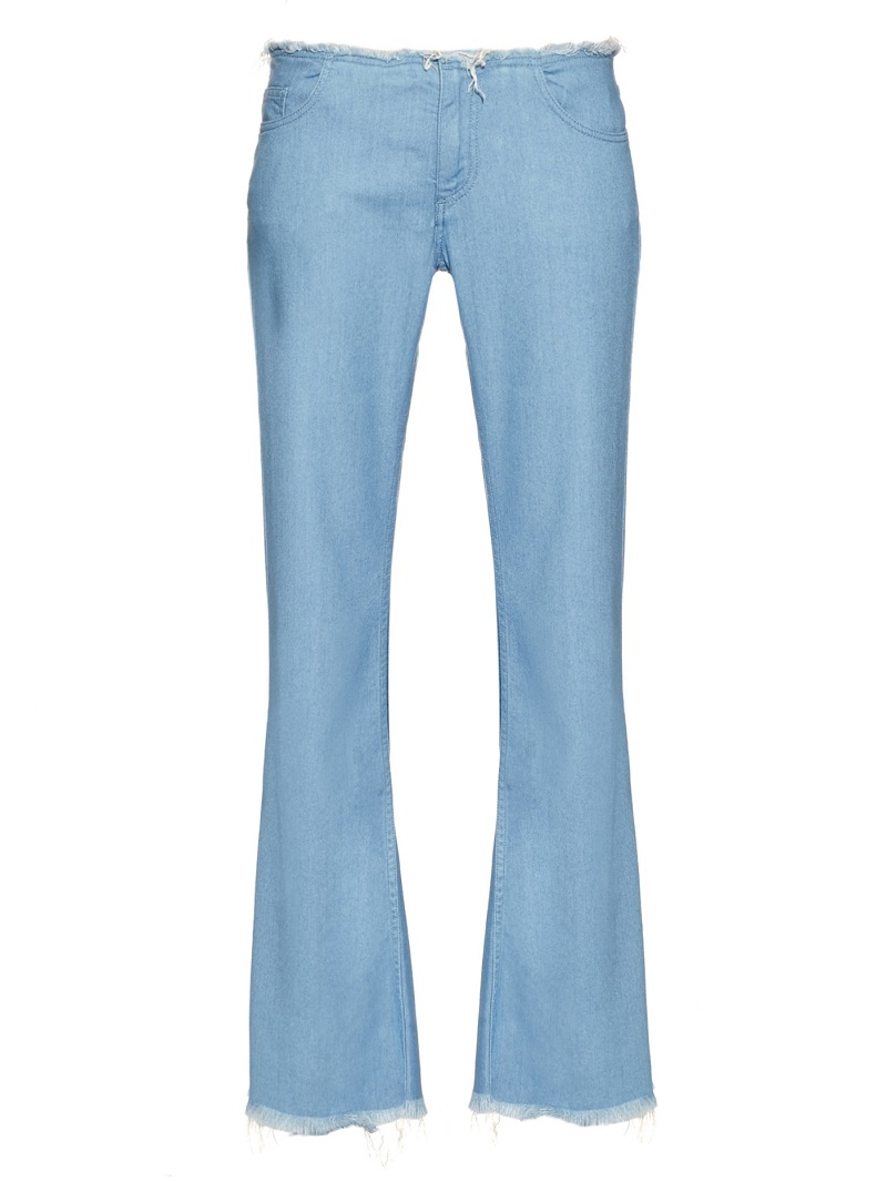 Marques'Almeida Frayed-edge flared jeans