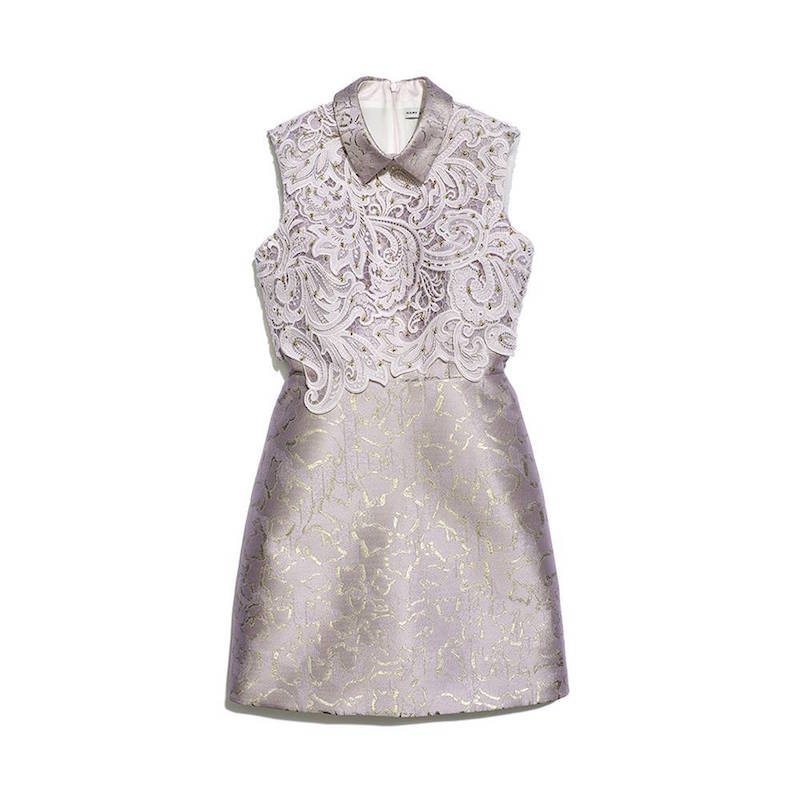 Mary Katrantzou Swarovski Crystals Jacquard & Lace Dress
