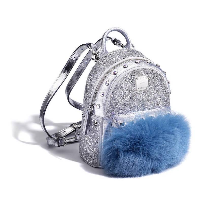 Mcm Swarovski Crystals Bebe Boo Backpack_Silver