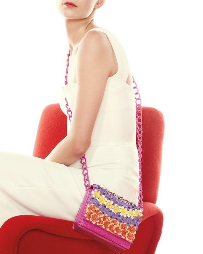 Nancy Gonzalez Floral Crossbody Crocodile Bag