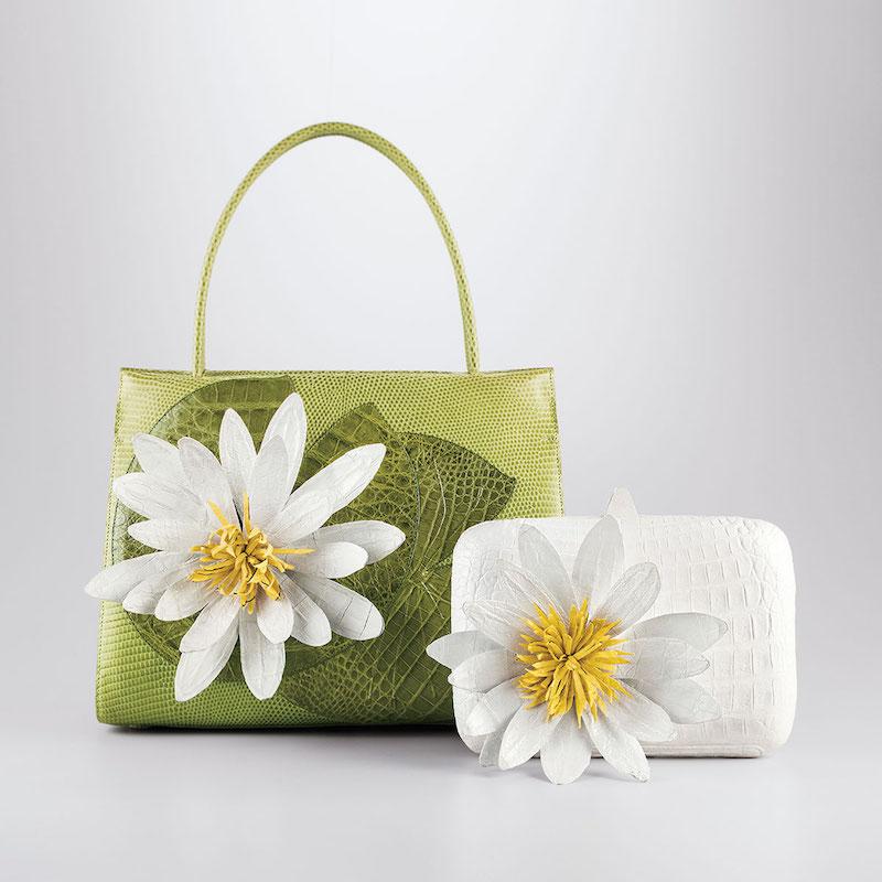Nancy Gonzalez Lotus Wallis Medium Crocodile Lady Bag
