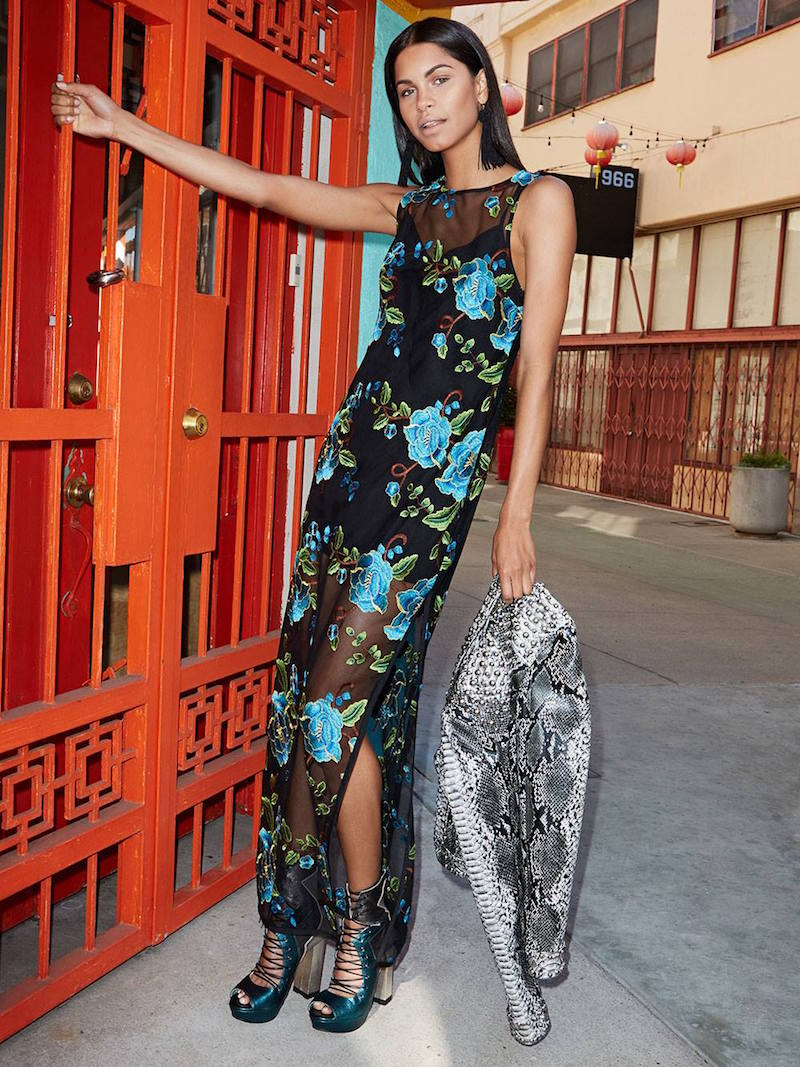 Nasty Gal Bloom or Bust Embroidered Mesh Dress