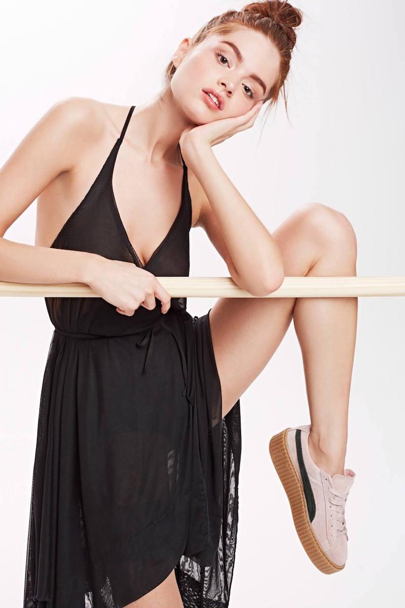 Nasty Gal Risk It All Sheer Wrap Dress