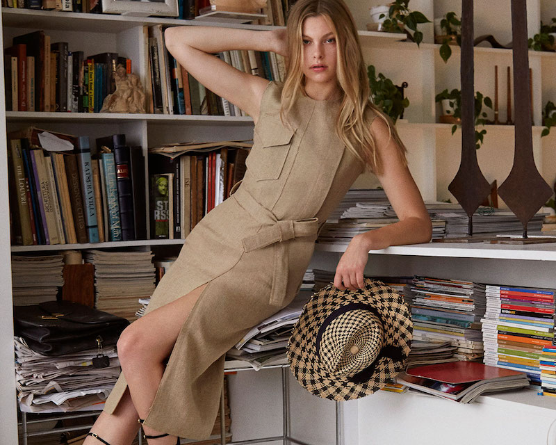 Nina Ricci Linen Canvas Dress With Belt
