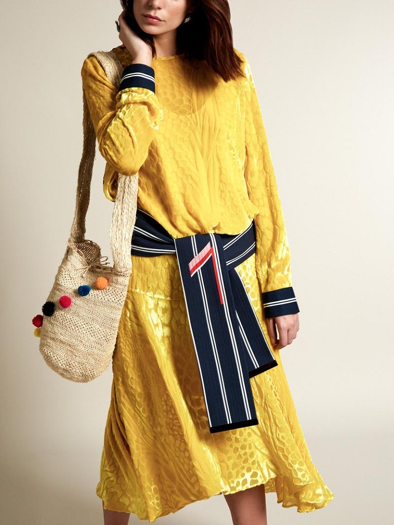 Preen By Thorton Bregazzi Amber long-sleeved velvet-devoré dress