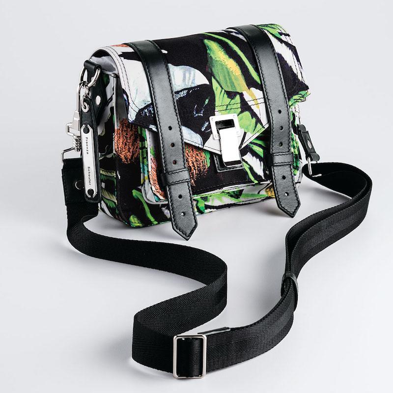 Proenza Schouler PS1 Nylon Tropical-Print Pouch Bag