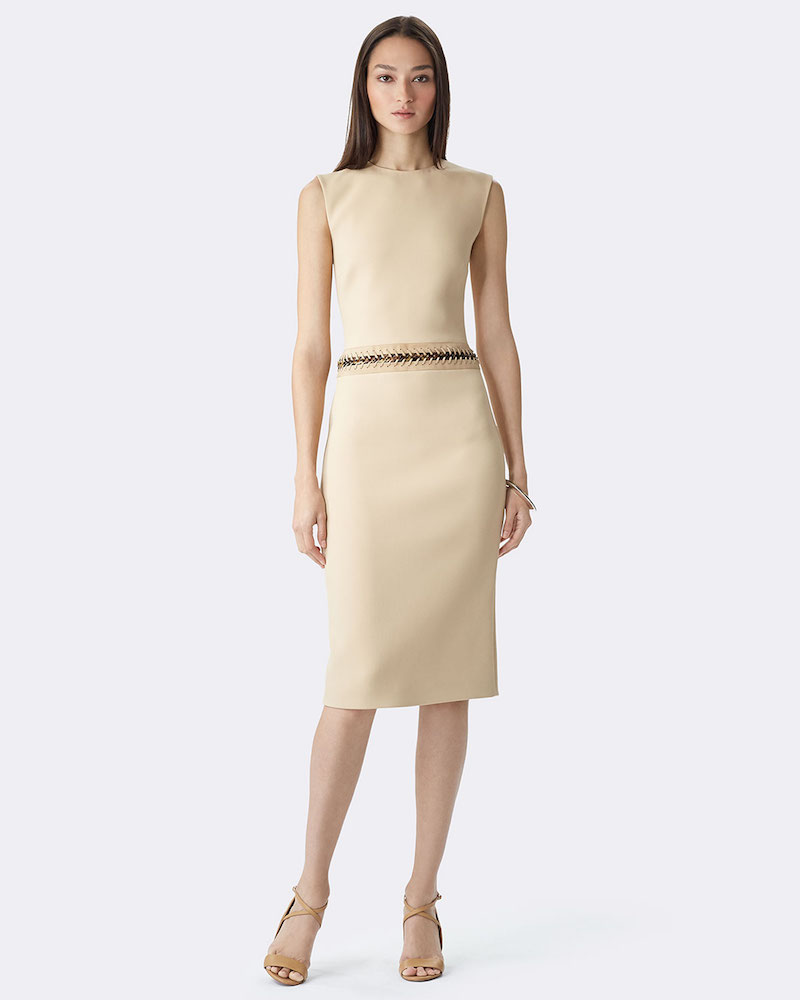 Ralph Lauren Sleeveless Jewel-Neck Sheath Dress