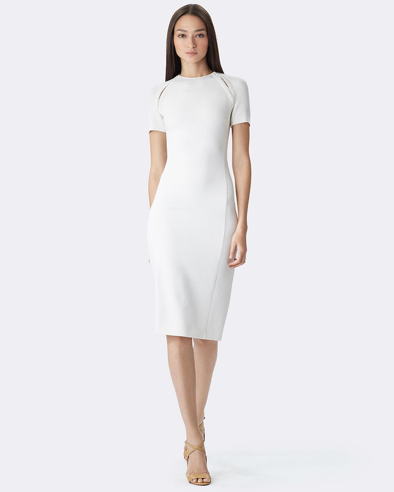 Ralph Lauren Wool-Crepe Short-Sleeve Sheath Dress