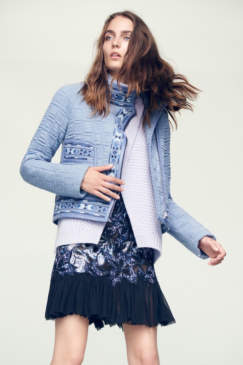 Rebecca Taylor Picktstitch Cotton Embroidered Jacket