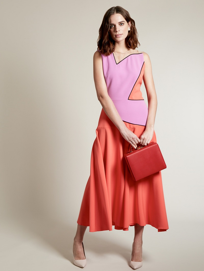 Roksanda Talma colour-block midi dress