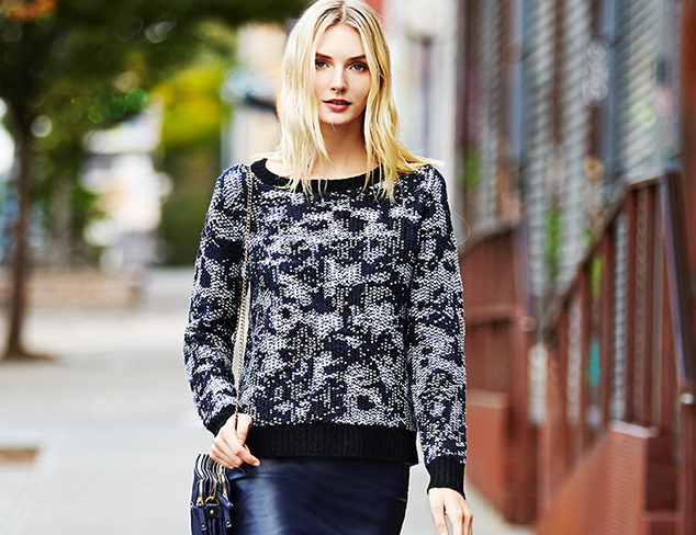 SHAE Textured & Printed Sweaters at MYHABIT