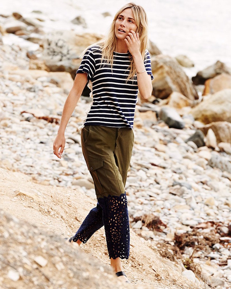 Sea Lace Combo Cargo Pants