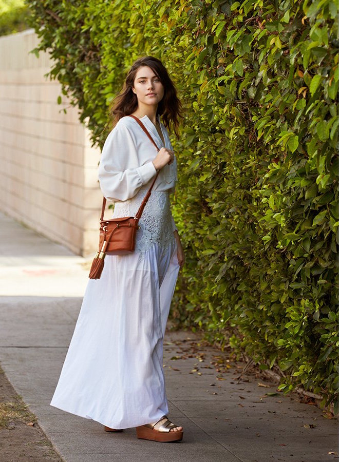 See By Chloé Lace Detail Maxi Skirt