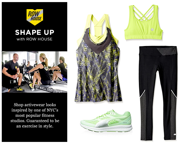 Shape Up Activewear Inspired By NYC's Row House at MYHABIT