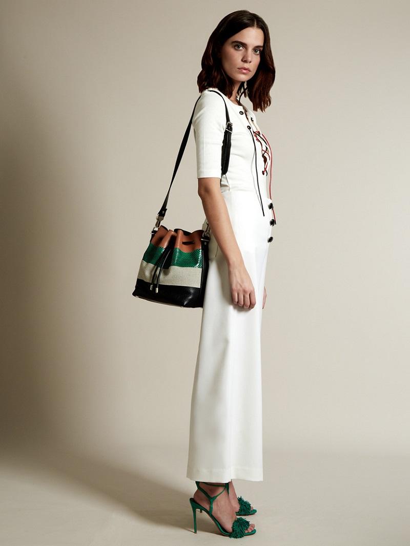 Sonia Rykiel Lace-up cotton-piqué top