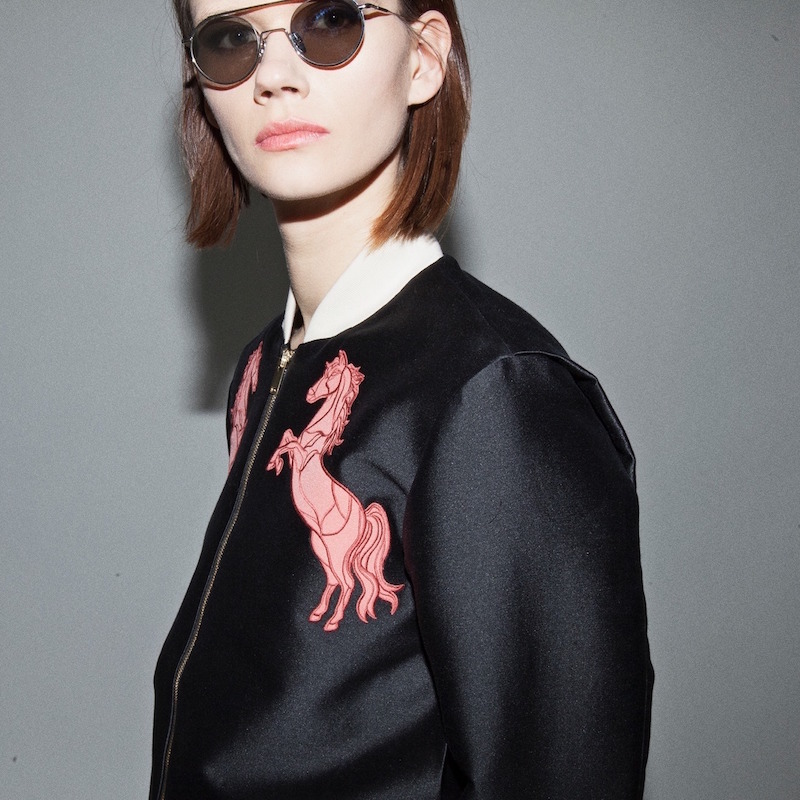 Stella McCartney Elgin Horse Bomber Jacket
