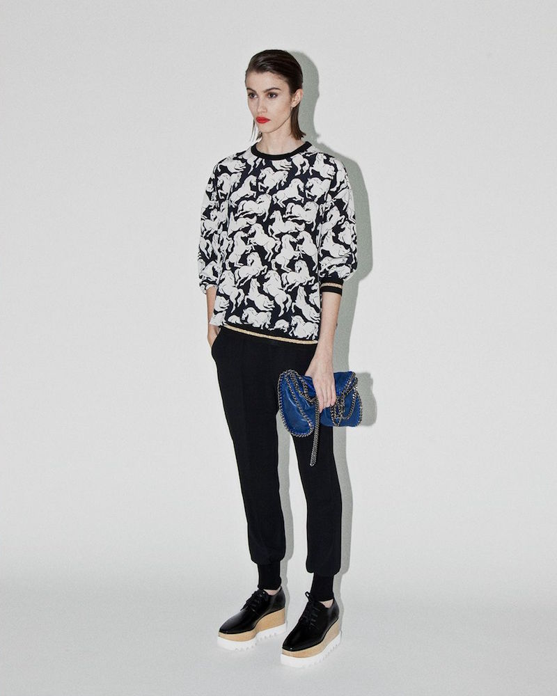 Stella McCartney Ines Horse Print Top