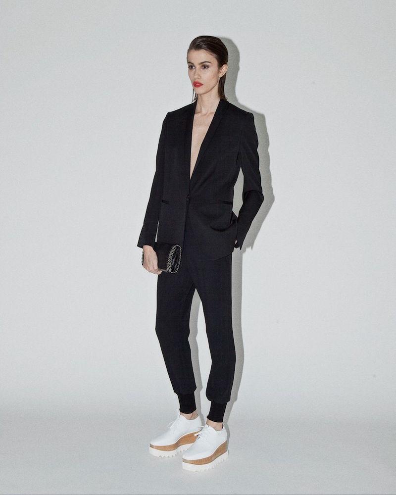 Stella McCartney Julia High-Rise Tapered Cuff Pants