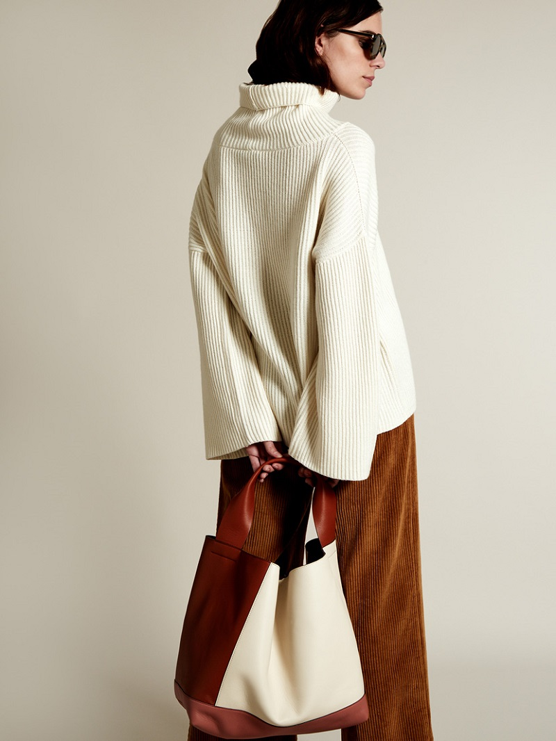 The Row Caima roll-neck cashmere-blend sweater