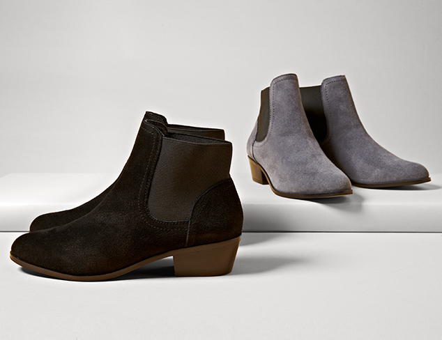 The Season of Suede Pumps, Boots & More at MYHABIT