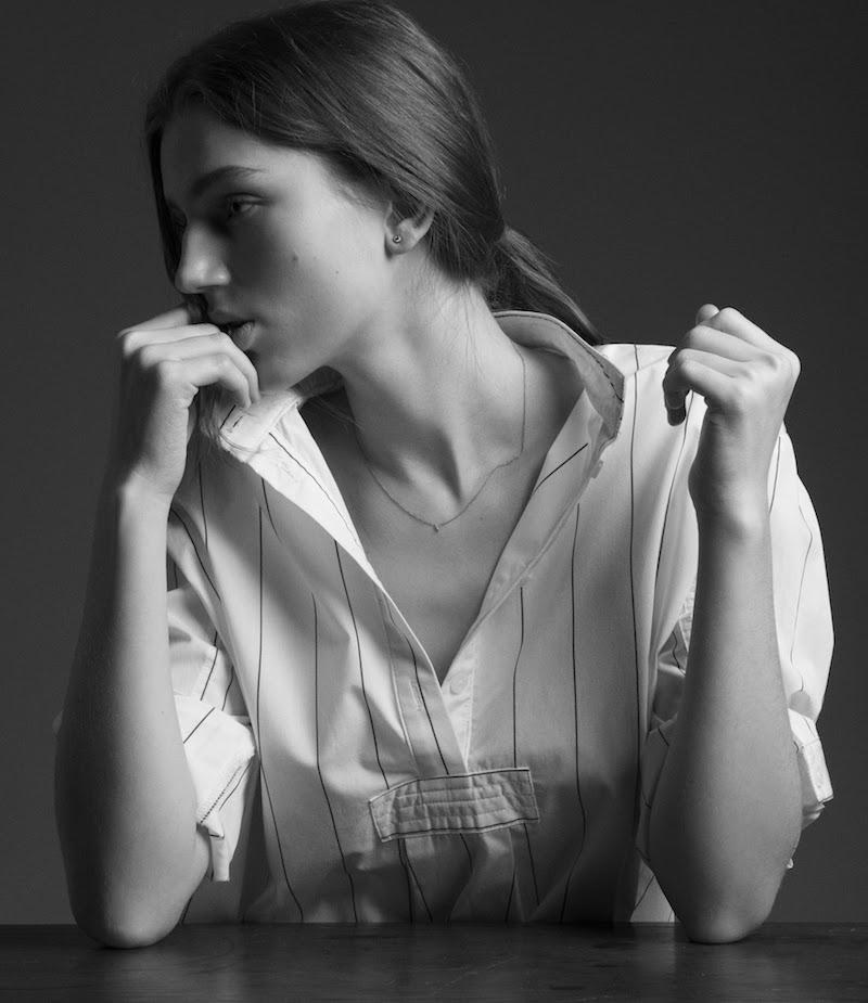 The Sleep Shirt Fine-Striped Sleep