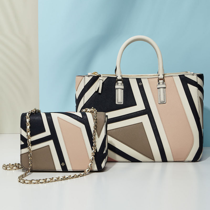 Tory Burch Robinson Fret-Patchwork Tote Bag