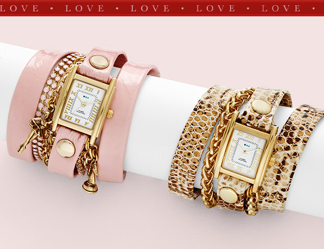 Valentine Time Sparkling Watches for Her at MYHABIT