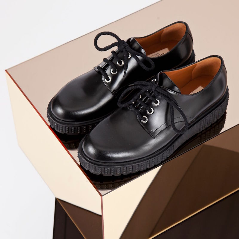 Valentino Lace-up Leather Derby Shoes