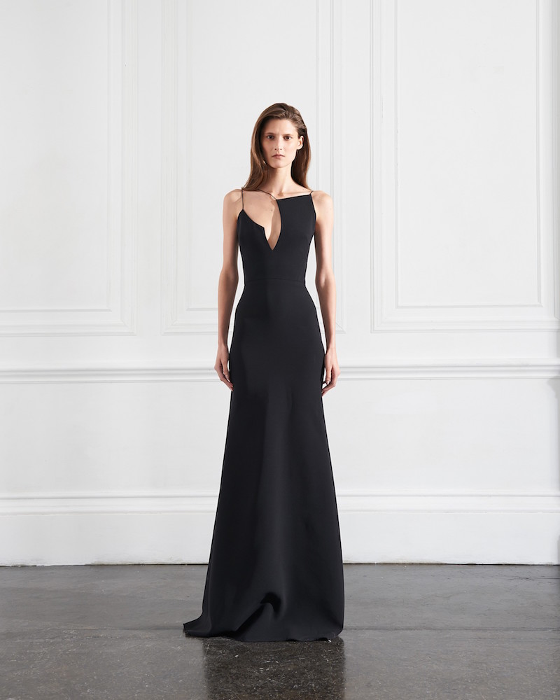 Victoria Beckham Asymmetric Cut Out Floorlength Dress