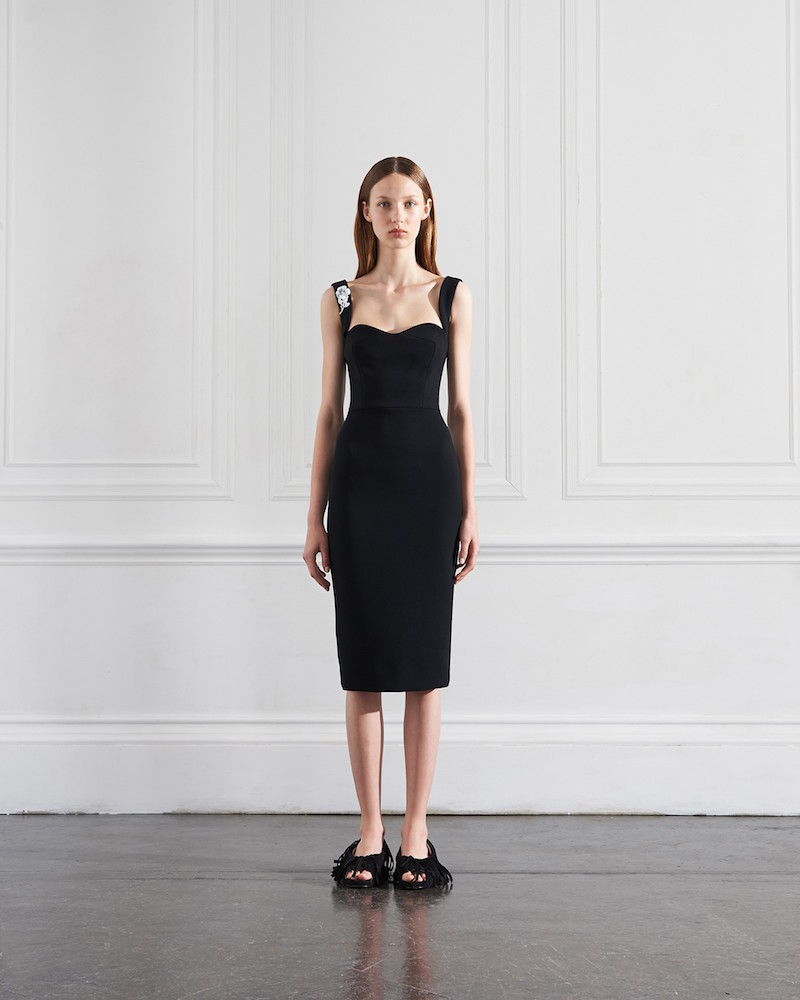Victoria Beckham Curve Cami Fitted Dress