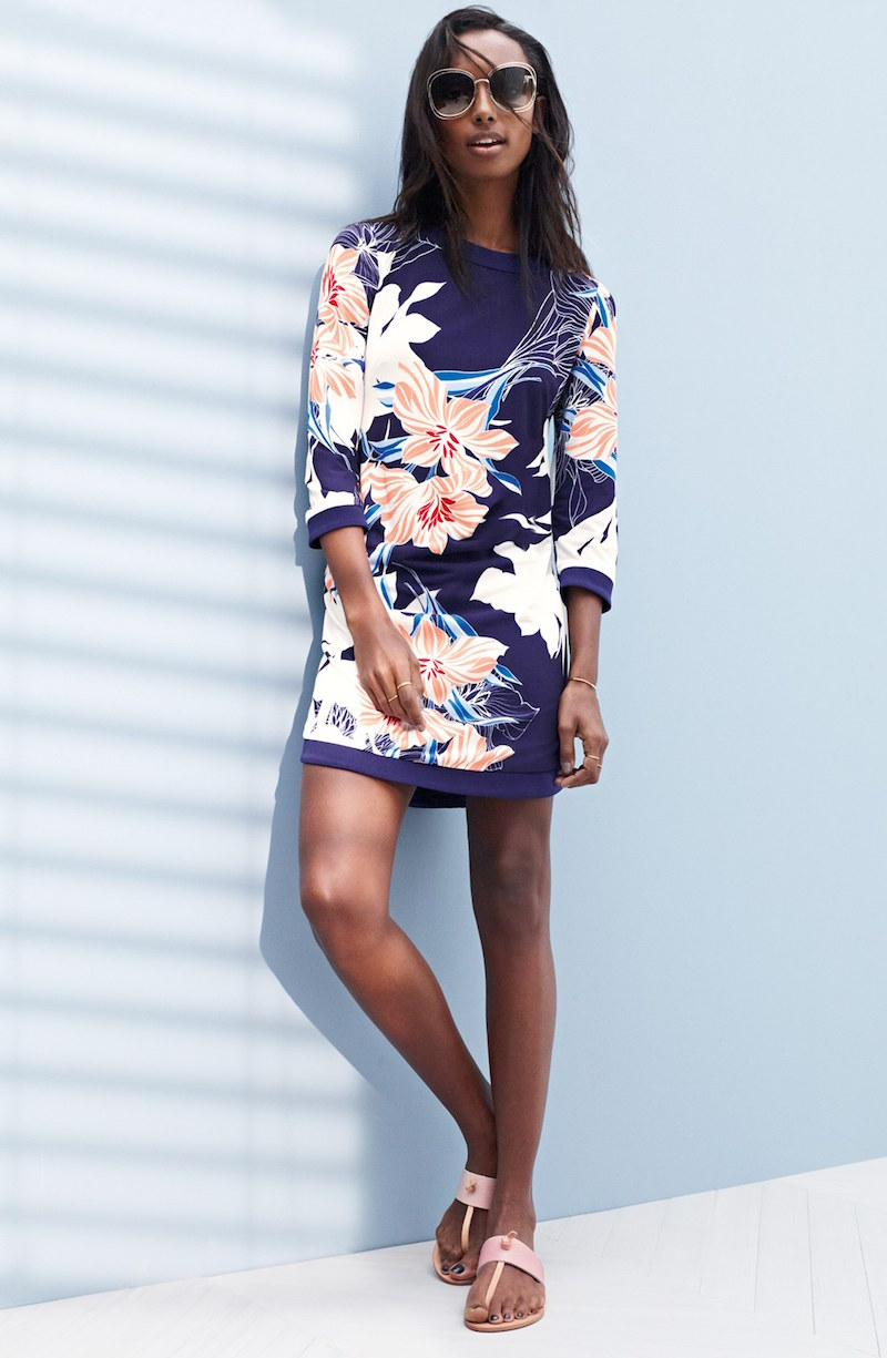 Vince Camuto Floral Jersey Shift Dress