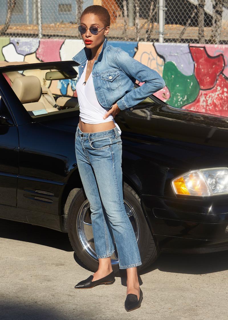 Women's Denim X Alexander Wang Trap Cropped Bootcut Jeans