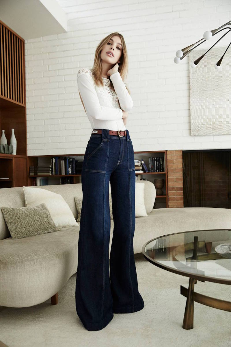 7 For All Mankind Belted Palazzo Pants