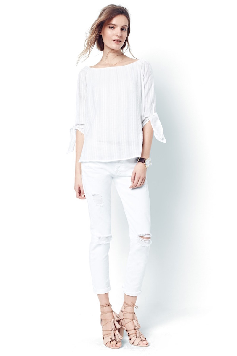 7 For All Mankind Josefina Boyfriend Jeans in Clean White