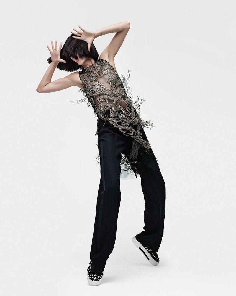Alexander McQueen Sleeveless Metallic-Chain Embellished Tunic