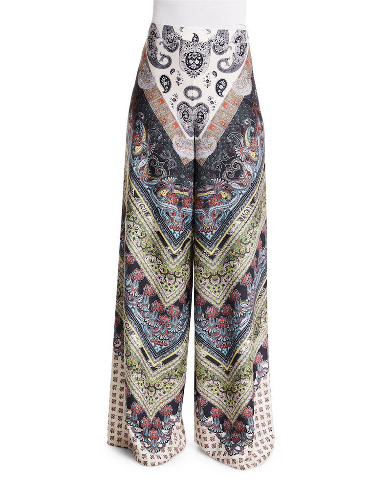 Alice + Olivia Athena Multipattern Super-Flared Pants_1