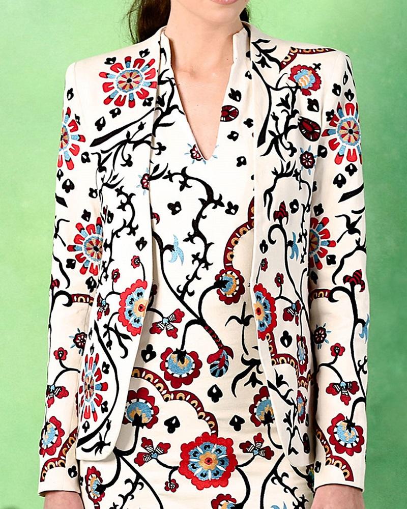 Alice + Olivia Juliet Floral Embroidered Jacket