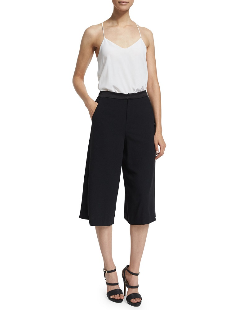 Alice + Olivia Marlena Low-Rise Gaucho Pants