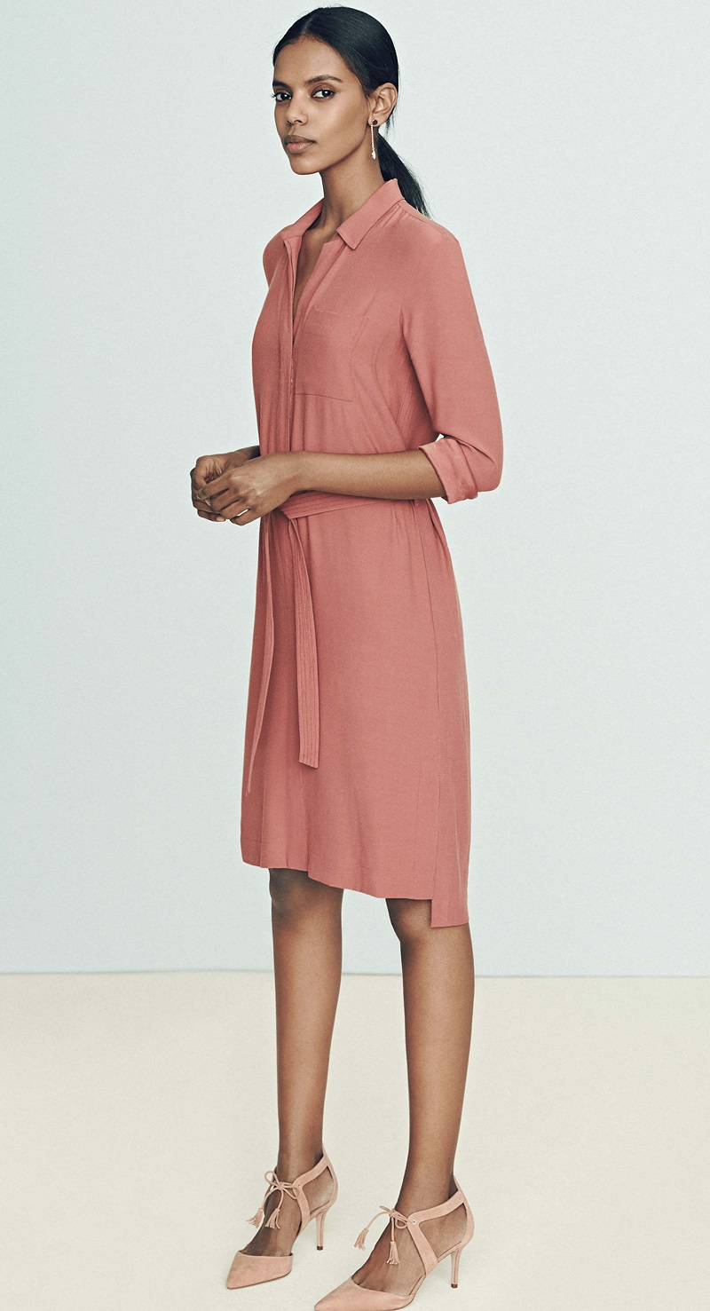 Ann Taylor Long Sleeve Shirt Dresses