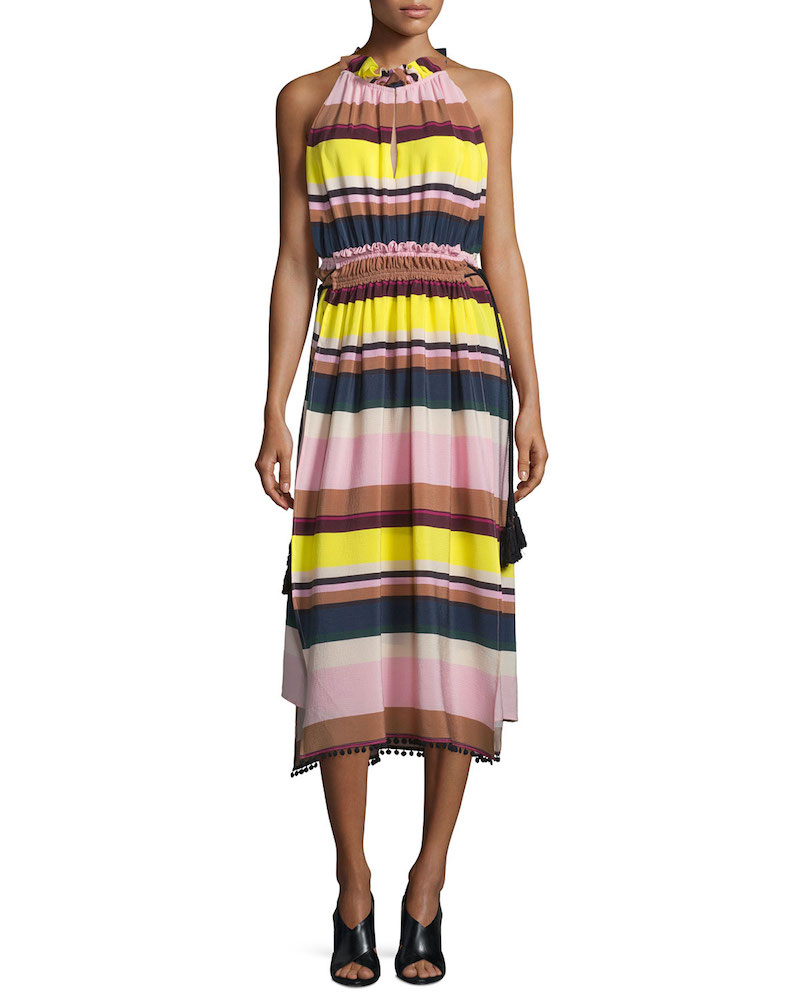 Apiece Apart La Rosa Striped Midi Dress_1