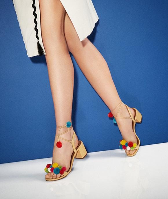 Aquazzura Raffia pompom sandals--