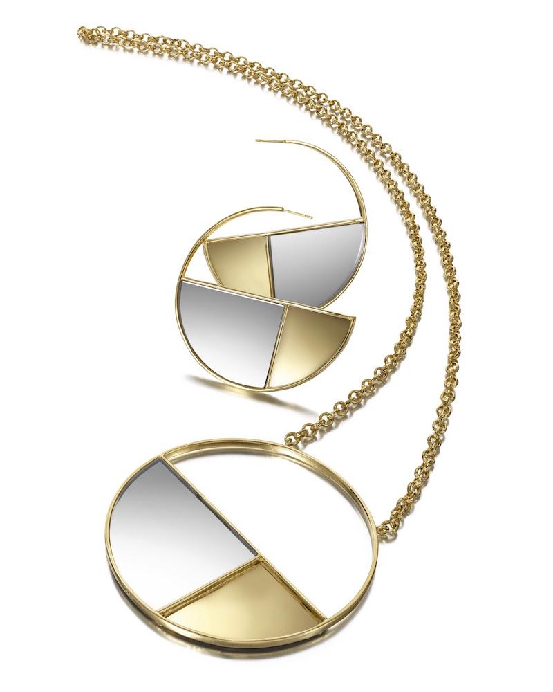 Aurélie Bidermann Bianca Mirrored Pendant Necklace