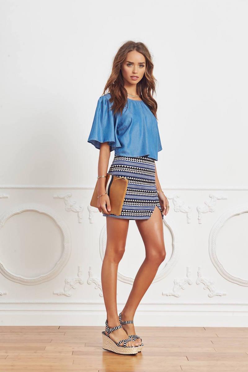 BCBGeneration Slit Mini Skirt