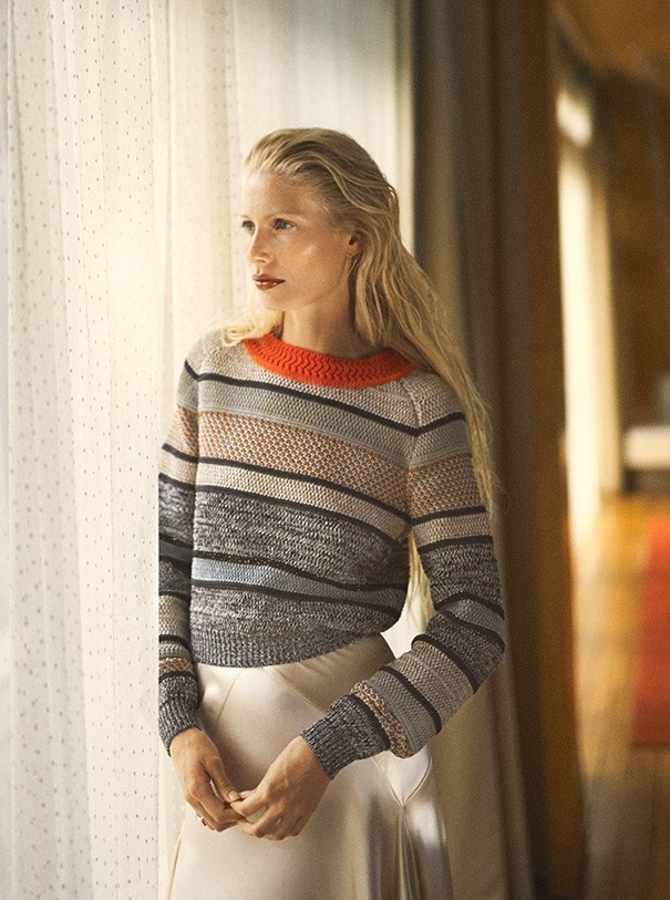Bottega Veneta Striped cotton-blend sweater