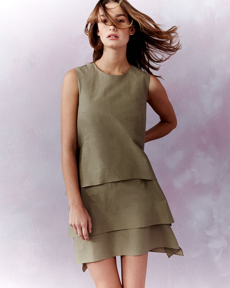 Brunello Cucinelli Sleeveless Layered Shift Dress